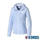 【超取】K-SWISS Color Zip Jacket防風外套-女-天藍