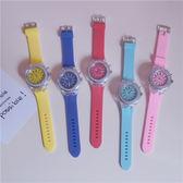 正韓時尚潮流男女中學生情侶手錶創意個性熒光硅膠炫酷發光電子錶WY