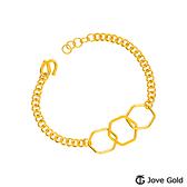 JoveGold漾金飾 完美結合黃金手鍊