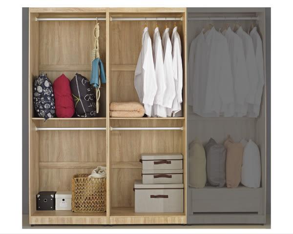 衣櫥【YUDA】凱文 2.3尺 橡木紋 雙吊衣櫃(單只)/衣櫥 J8F 054-3
