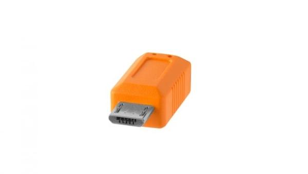 ◎相機專家◎ Tether Tools CUC2515-ORG 傳輸線 USB-C 轉 2.0 Micro-B 公司貨