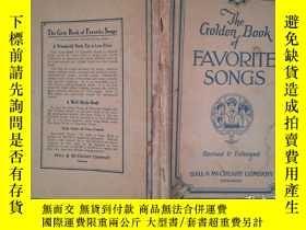 二手書博民逛書店THE罕見GOLDEN BOOK OF FAVORITE SONGS: Revised and Enlarged(