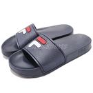 FILA 拖鞋 S316S 藍 白 復古...