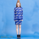 【2%】2% X MIFFY   滿版miffy字樣套裝-藍