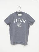 【Abercrombie & Fitch】男款短袖純棉T恤 - 灰/L