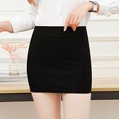 職業包裙包臀半身裙女夏工裝短裙子工作裙彈力裙黑色正裝裙一步裙 【蜜斯蜜糖】