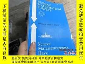 二手書博民逛書店russian罕見mathematical surveys vo