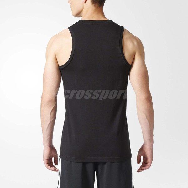 adidas 背心 BOS TANK 男款 無袖 上衣 吊嘎 運動 球衣 跑步 慢跑 路跑 馬拉松 休閒 黑 【PUMP306】 CD9098