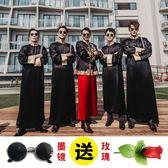 中式婚禮伴郎服裝 時尚唐裝長袍 兄弟團刺繡大褂 降價兩天