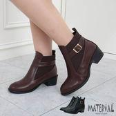短靴 拼接側扣帶鬆緊短靴 MA女鞋 T7807