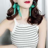 耳環  潮流繫飄帶蝴蝶結圓圈淑女氣質大耳環時尚個性耳飾  瑪奇哈朵