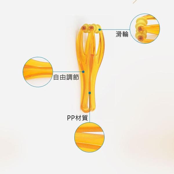 Qmishop 手指按摩器塑膠滾輪按摩器【J2421】