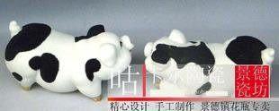 陶瓷器動物豬工藝品擺件相親相愛