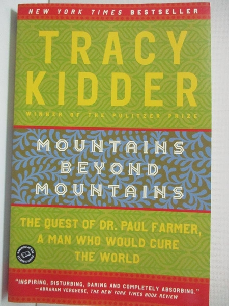 【書寶二手書T6/原文小說_GMZ】Mountains Beyond Mountains_KIDDER, TRACY