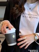 短袖T恤 短袖T恤女裝夏季ins潮網紅2021年新款純棉打底白色上衣服寬鬆體恤 曼慕