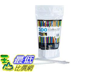 [105美國直購] 棒棒糖棒 LolliZ Sturdy Food Safe 6 Lollipop Sticks Count of 100 comes in resealable bag CUL-50120