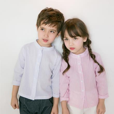 韓版條紋立領襯衫親子裝(小孩)