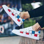 夏季透氣帆布鞋男韓版潮流學生白色鞋子男士休閒鞋百搭布鞋男板鞋