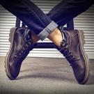 靴子 馬丁靴男潮百搭男士高幫鞋正韓雪地皮靴短靴男靴中幫工裝靴子男