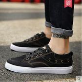 帆布鞋潮鞋百搭情侶鞋休閒鞋春季布鞋社會男鞋子