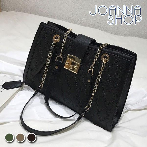 手提包 大藝術家菱格紋鍊條托特包-Joanna Shop