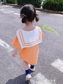 女童裙子女寶寶洋裝兒童公主裙小童短袖裙子洋氣潮(速出)