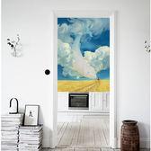 可愛時尚棉麻門簾E207 廚房半簾 咖啡簾 窗幔簾 穿杆簾 風水簾 (70寬*120cm高)