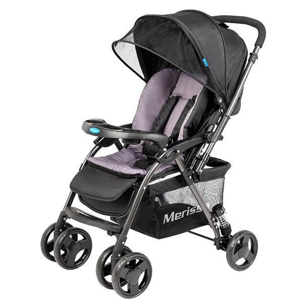 Merissa 美瑞莎 LT-3R Plus 雙向嬰兒手推車-石岩黑【佳兒園婦幼館】