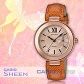 CASIO 卡西歐 手錶專賣店 國隆 SHEEN SHE-3051PGL-7A 主題色系列 優雅三眼女錶 皮革錶帶 SHE-3051PGL