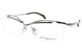 Masaki Matsushima 光學眼鏡 MMF1225 C01 (黑-銀) 潮感時尚半框系列 β鈦眼鏡 #金橘眼鏡