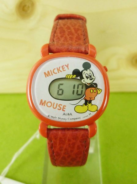 【震撼精品百貨】米奇/米妮_Micky Mouse~電子手錶-米奇全身圖案-紅色