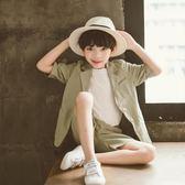 兒童小西裝套裝男童韓版休閑西服中大童英倫花童六一演出表演禮服 小宅女