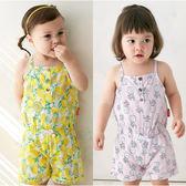 吊帶連身衣 滿版水果印花 吊帶 女寶寶 連身衣 爬服 爬衣 哈衣 80010