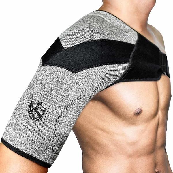 【南紡購物中心】【Vital Salveo 紗比優】防護鍺壓縮護 肩(竹炭+鍺纖維/遠紅外線-台灣製造)