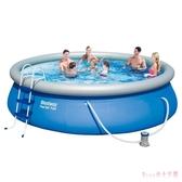 充氣游泳池 198.51cm家用大人兒童加厚家庭小孩寶寶成人戶外戲水池 DR22347【Rose中大尺碼】