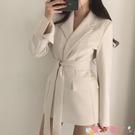 西裝外套 小西裝外套女2021新款春秋黑色上衣秋季韓版西服英倫風設計感小眾 愛丫 免運