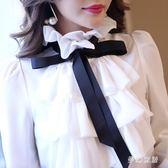 雪紡襯衫洋氣女長袖上衣打底衫時尚氣質百搭 qw3372『夢幻家居』