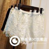 蕾絲短褲外穿打底褲女夏季韓版白色大碼薄款花邊高腰防走光安全褲