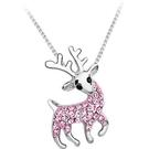 聖誕麋鹿項鍊 奧地利水晶 吊墜 聖誕禮物 生日禮物 情人節禮物 沂軒精品 F0035