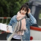 圍巾女秋冬季ins韓版百搭加厚可愛少女士男學生情侶粗針織圍脖潮-風尚3C