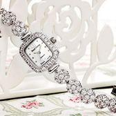 石英錶-韓版鑲鑽貝母手鍊造型女手錶9色71r26【時尚巴黎】