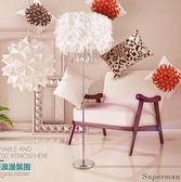 現代簡約客廳落地燈 水晶燈飾具羽毛臥室裝飾羽毛檯燈 jy【快速出貨中秋節八折】