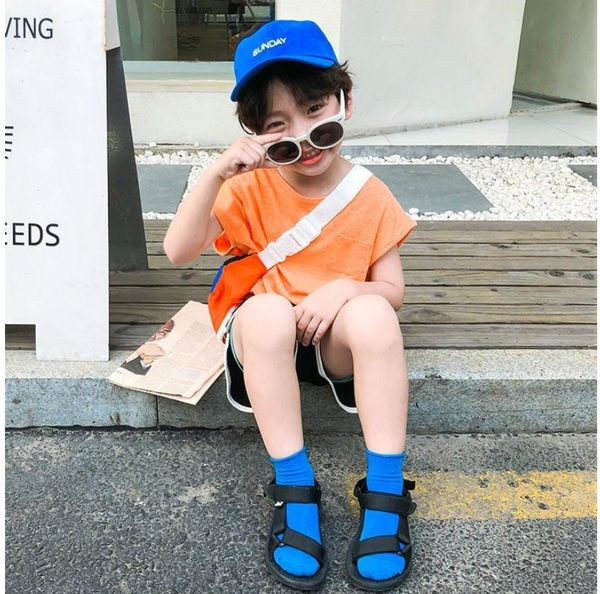 純色捲邊薄款透氣網眼短襪 短襪 純白學生襪 男女童 橘魔法 Baby magic 白色襪子 短襪 童襪 素色