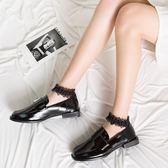 襪子組 玻璃絲襪短襪子蕾絲花邊日系水晶襪夏天薄款棉底拼接淺口船襪 巴黎春天