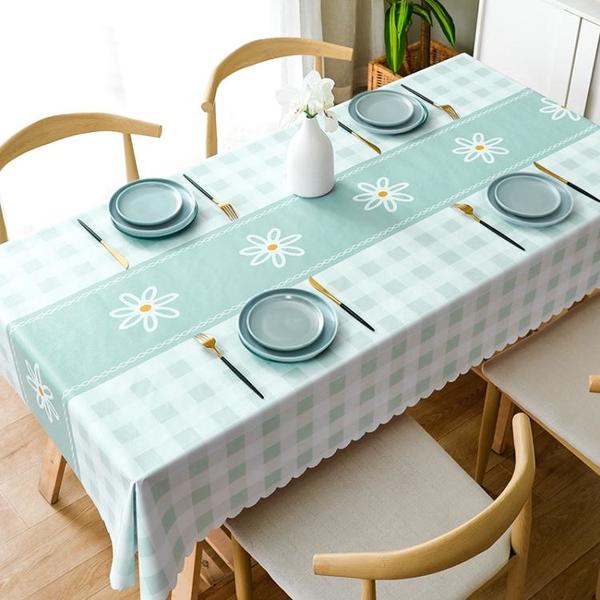 桌布防水防油免洗布藝書桌ins風北歐長方形餐桌布pvc茶幾桌墊臺布