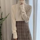 春季打底衫女秋冬內搭半高領毛衣修身堆堆領針織衫女毛線上衣 韓美e站