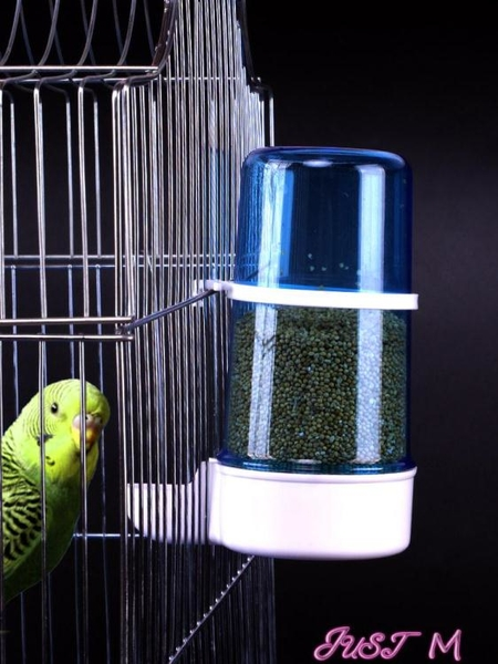 餵食器鳥用飲水器自動喂食喂水器鸚鵡食盒鳥食罐鳥籠配件鳥具用品喝水的 JUST M