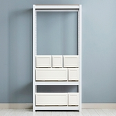 (組)層架收納櫃組合(韓國SR角鋼三層衣架x1,單層抽屜收納櫃x7)