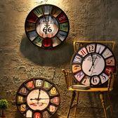 歐式復古掛鐘創意餐廳鐘錶 客廳靜音仿古鐘家居臥室掛件   igo聖誕節快樂購