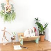 書柜實木床頭桌面小書架簡易迷你臥室收納桌 igo 優家小鋪